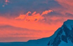 Sunset skies in Antarctica